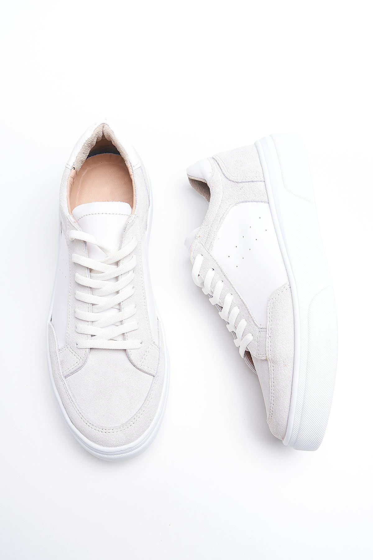 Hedwig White Genuine Leather Women Sneakers