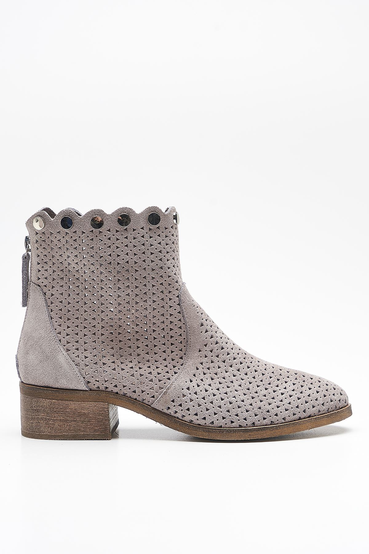 Gust Grey Genuine Leather Women's Summer Boots