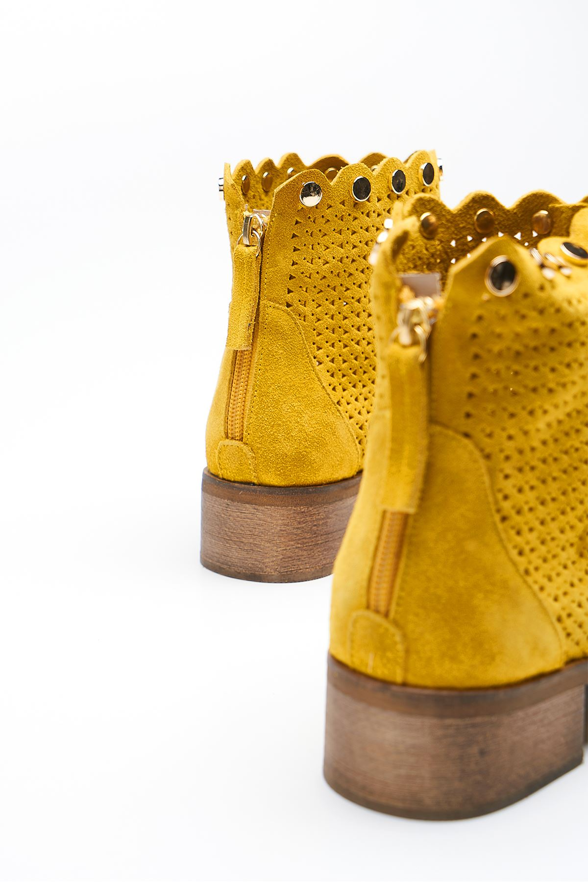 Gust Yellow Genuine Leather Women's Summer Boots