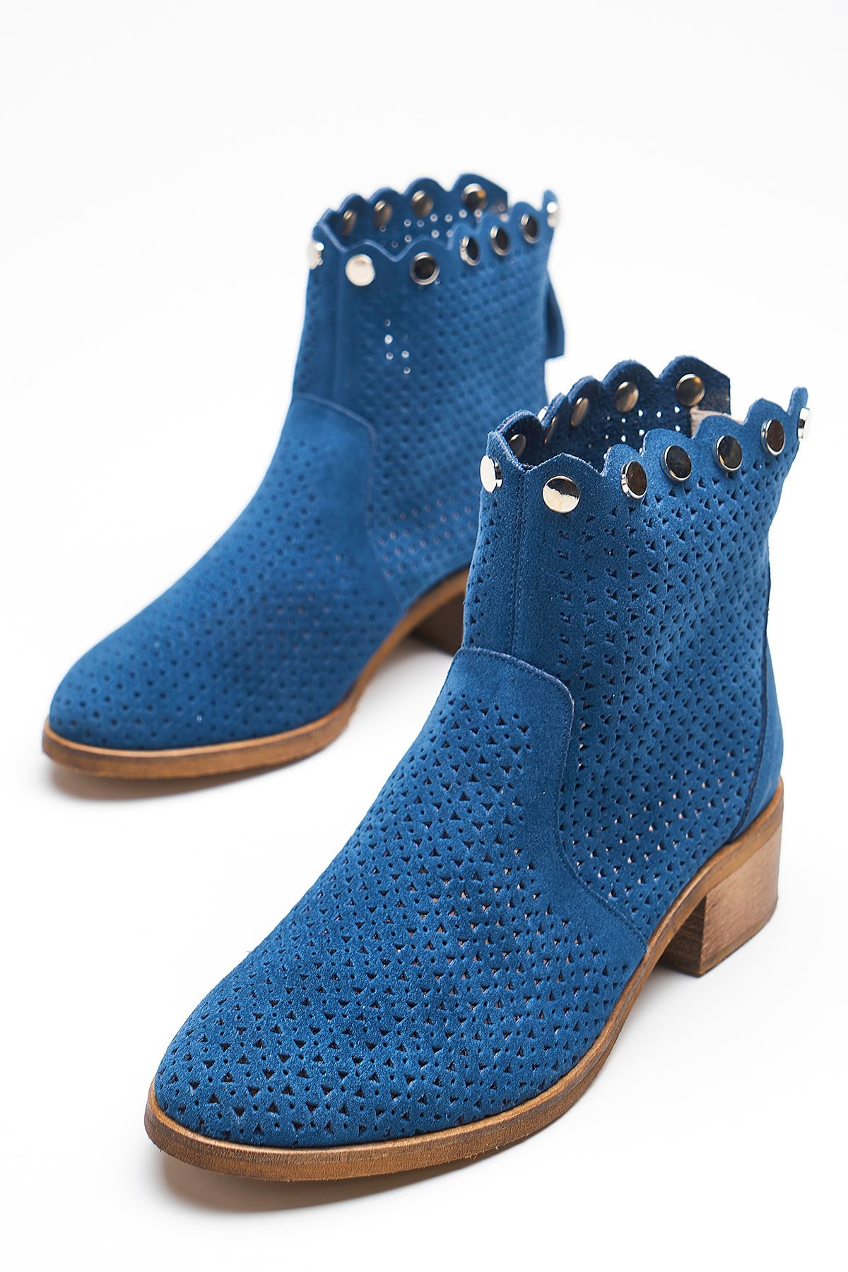 Gust Blue Genuine Leather Women's Summer Boots