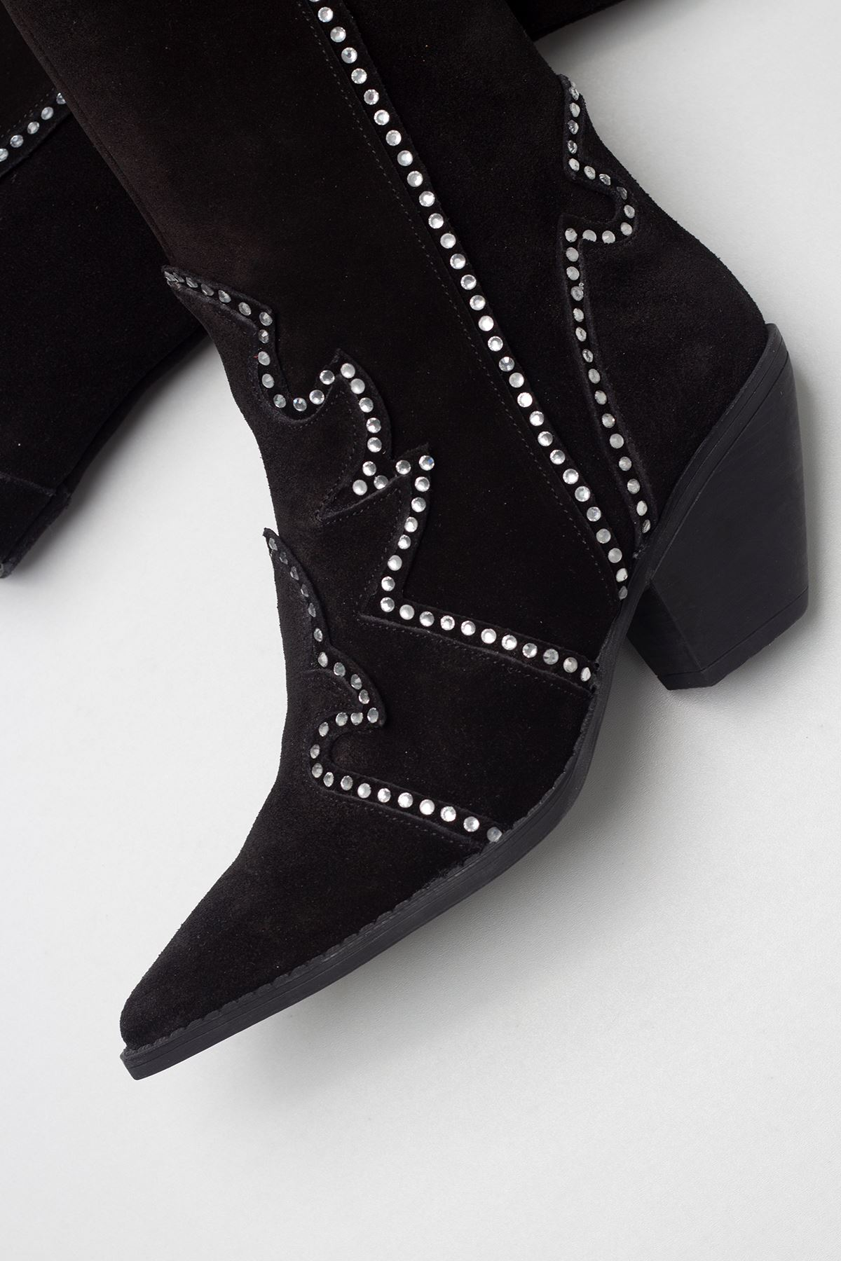 Anubis Black Genuine Leather Women Boots
