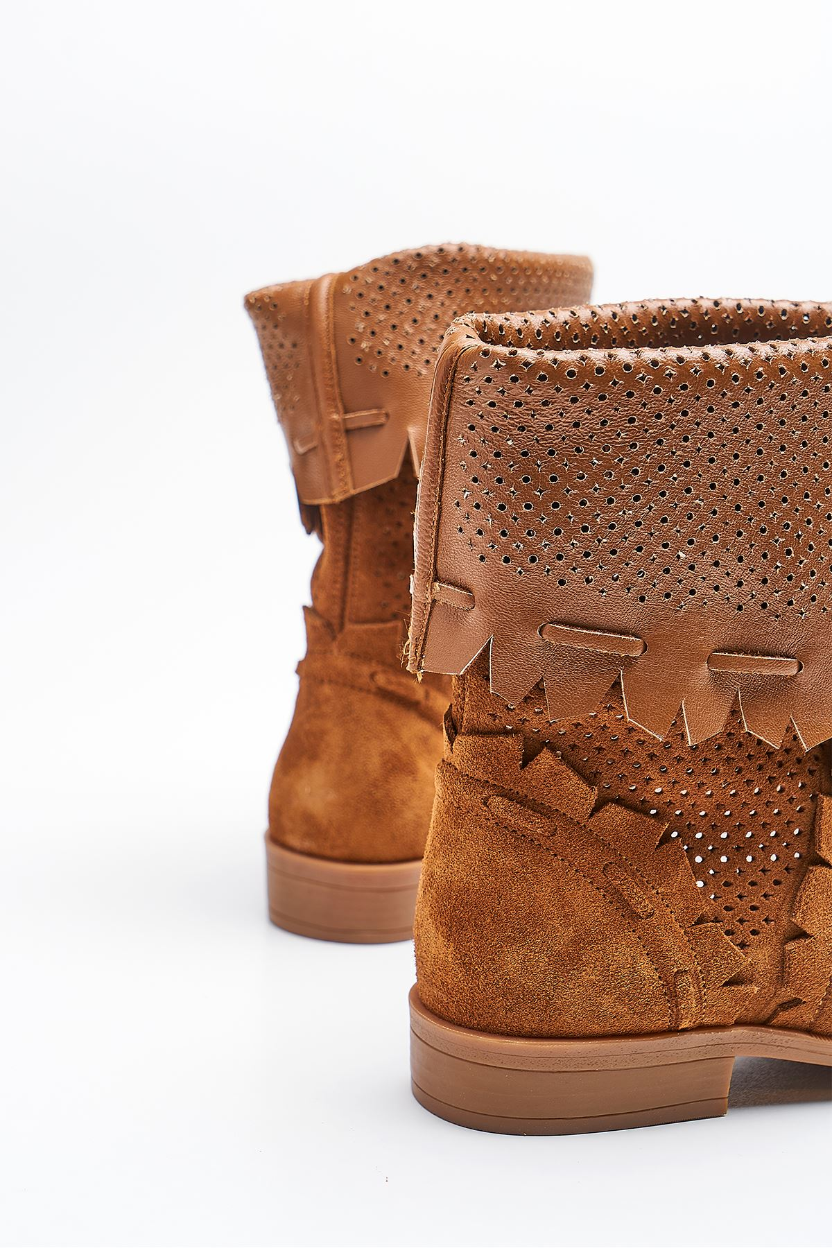 Jabba Tan Genuine Leather Women's Summer Boots