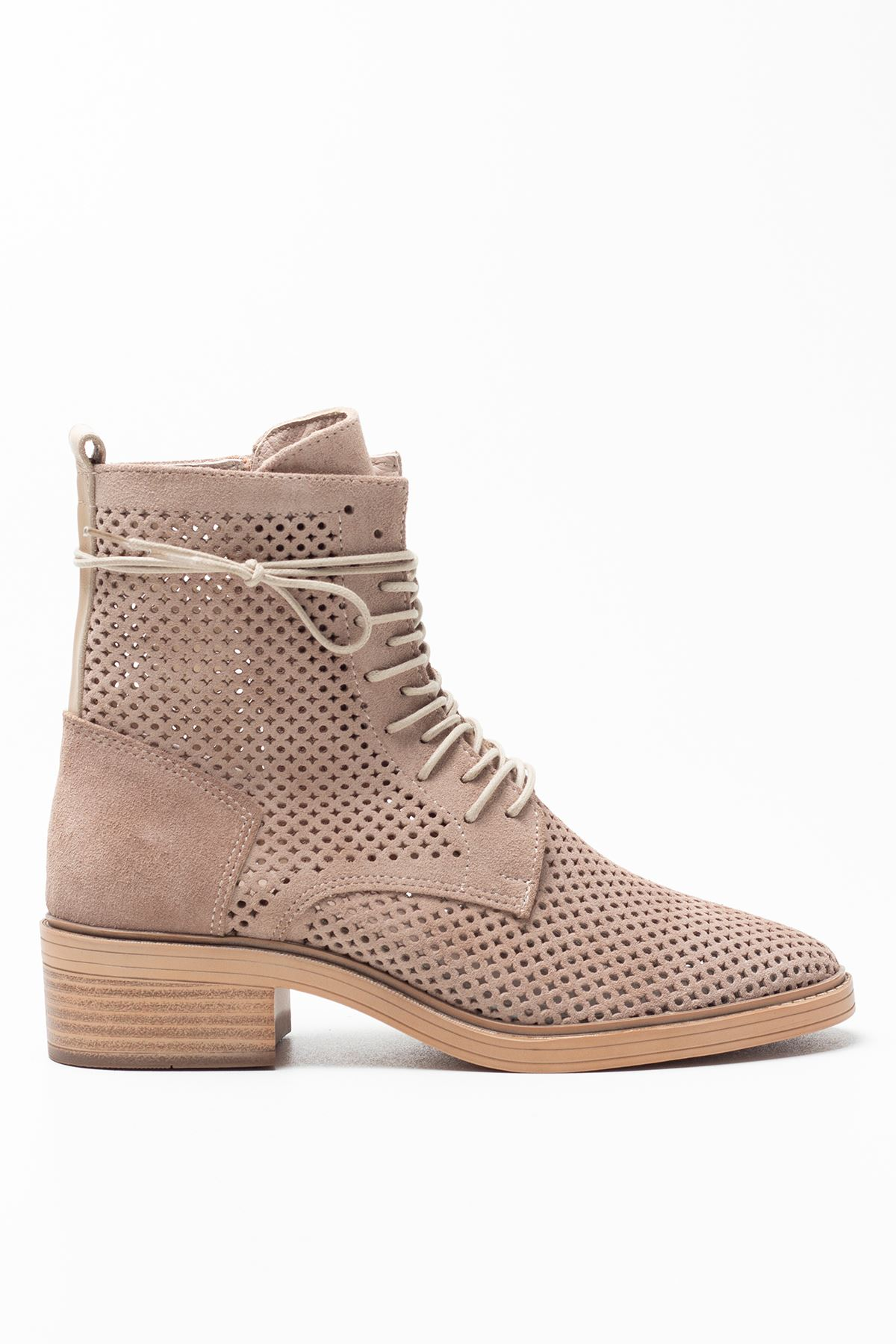 Becca Beige Genuine Leather Women's Summer Boots
